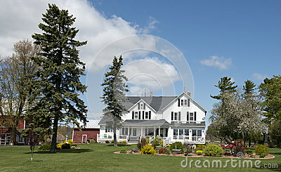 Big Rural Country Farmhouse Wisconsin Dairy Farm