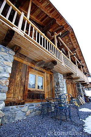 Big rustic chalet in the alps