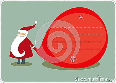 Big Sack And Santa Royalty Free Stock Photo - Image: 12099805