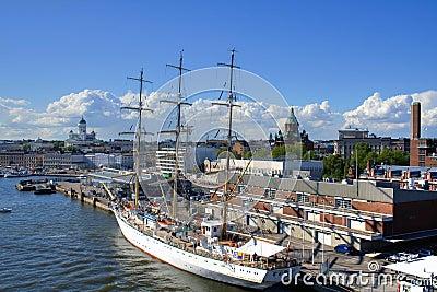 Big sailing boat in Helsinki