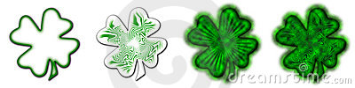 Big Saint Patrick's Shamrock - Pack 3 Stock Photos - Image: 4408873