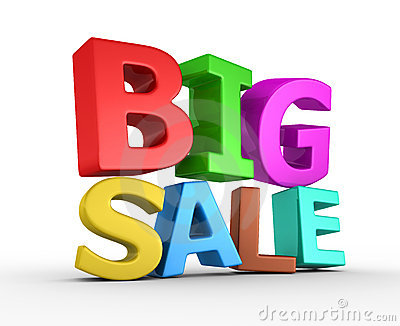 Big sale - 3d render