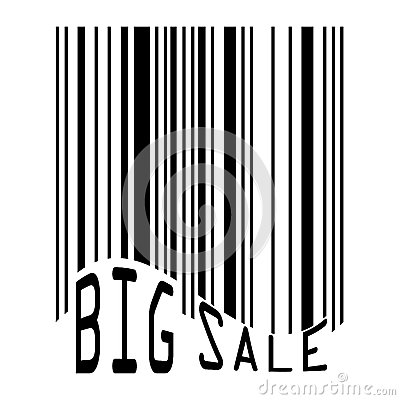 Big Sale bar codes all data is fictional.