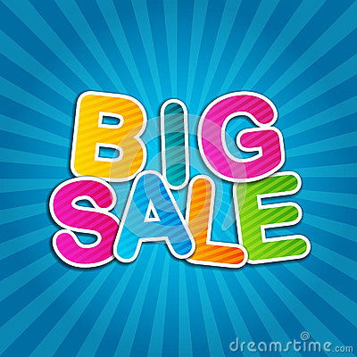 Big Sale Blue Poster