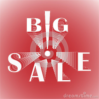 Big sale with exclamation mark