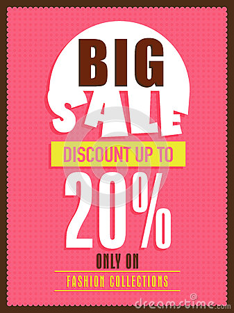 Big Sale Flyer Banner Or Poster Stock Photo Image 50114710