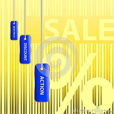 Big sale. Golden percent