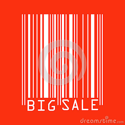 Big Sale Red Bar Codes.  Stock Photos - Image: 25221833