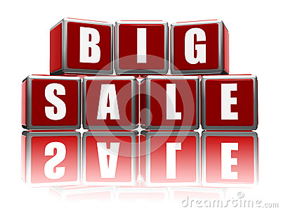 Big sale with reflection