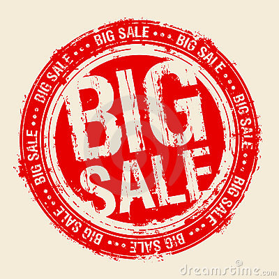 Free Big Sale Stamp. Stock Photo - 17284620