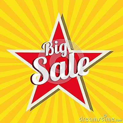 Free Big Sale Star Royalty Free Stock Photo - 32166285