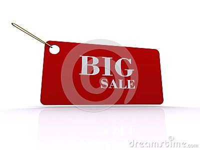 Big sale tag