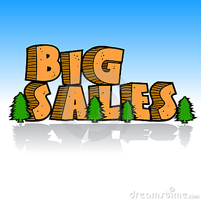 Big sales cartoon concept