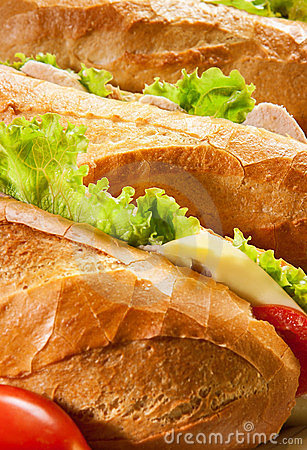 Free Big Sandwiches Stock Photography - 23754182