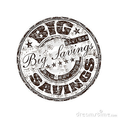 Big savings rubber stamp