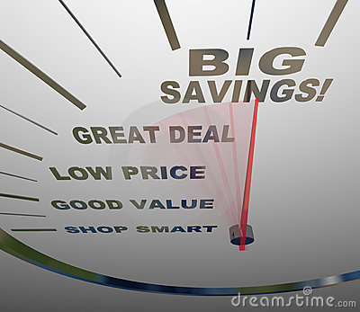 Big Savings - Speedometer Measures How to Save