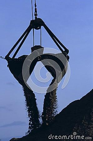 Big Scooping Crane Shovel