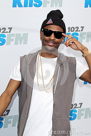 Big Sean arrives at the  Editorial Stock Image