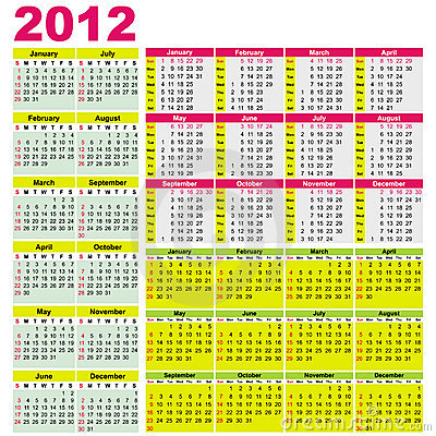 Big set of 2012 calendars.