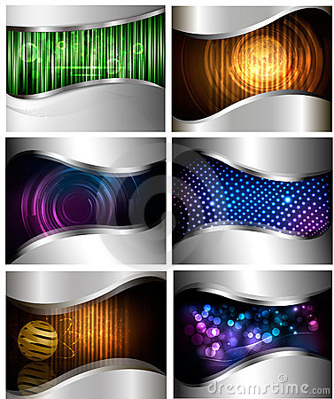Big set of abstract technology backgrounds