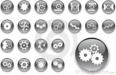Big Set Buttons - 6_A. Gears Stock Photography - Image: 6816672