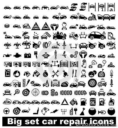 Free Big Set Car Repair Icons Stock Image - 34526881