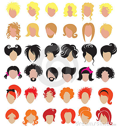 Big set of hair styling