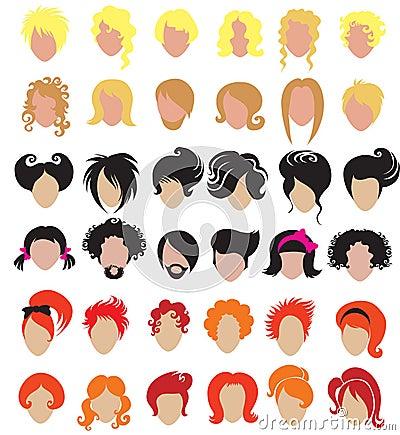 Big set of hair styling