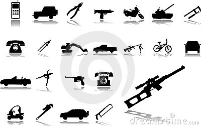 Big set icons - 15. Machines and technologies