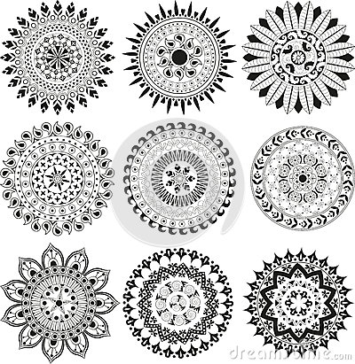 Big set of mandala Vector Illustration