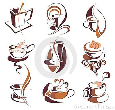 Free Big SET Of Coffee,tea Elements Royalty Free Stock Images - 13959469