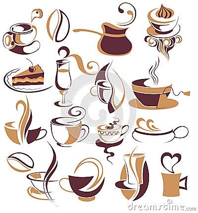 Free Big SET Of Coffee,tea Elements Stock Photo - 14759210