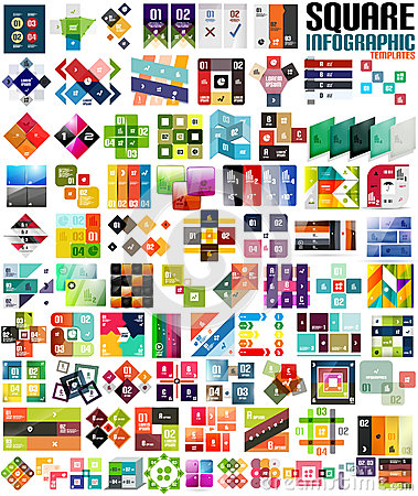 Free Big Set Of Infographic Modern Templates - Squares Stock Images - 35719334