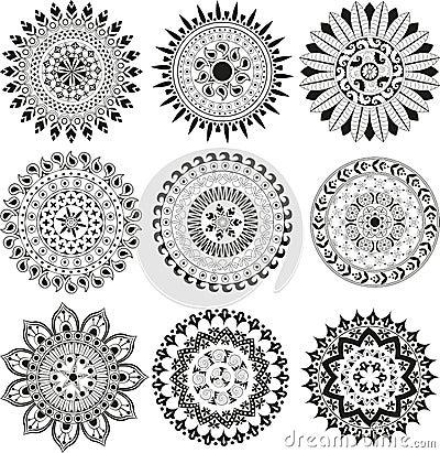 Free Big Set Of Mandala Stock Image - 41179181
