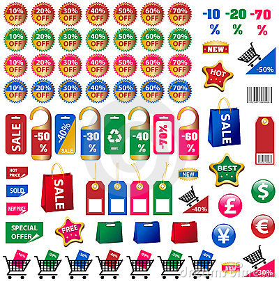 Free Big Set Of Price Tags And Stickers Stock Images - 14249344