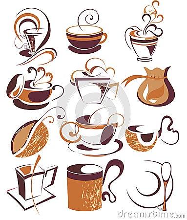 Free Big SET Of Vector Coffee,tea Elements Stock Images - 14631254