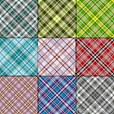 Big set  scottish seamless patterns