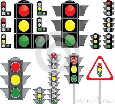Big set of traffic light variants