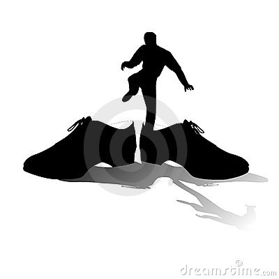 Big Shoes To Fill Silhouette