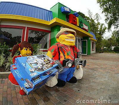 The Big Shop at  Legoland Florida Editorial Photo