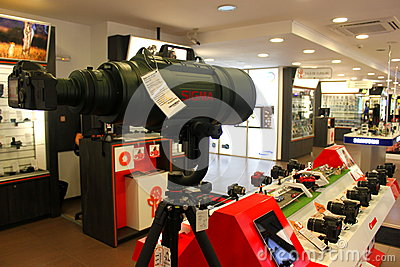 Big sigma lens Editorial Stock Photo