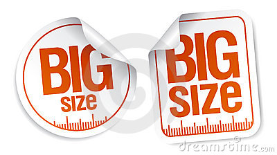 Big Size Stickers Royalty Free Stock Images - Image: 17825349