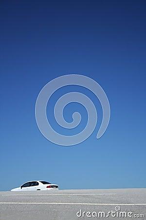 Free Big Sky And Empty Car Park Royalty Free Stock Photo - 665525