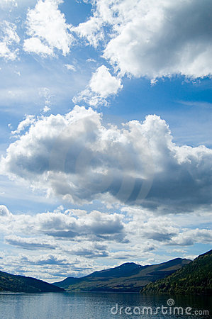 Free Big Sky And Loch Tay Royalty Free Stock Photos - 2690418