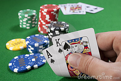 Big slick with gambling chips
