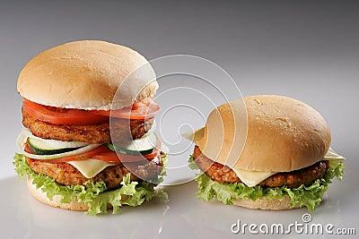 Big and small burger