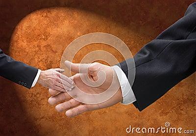Big or Small Business Handshake