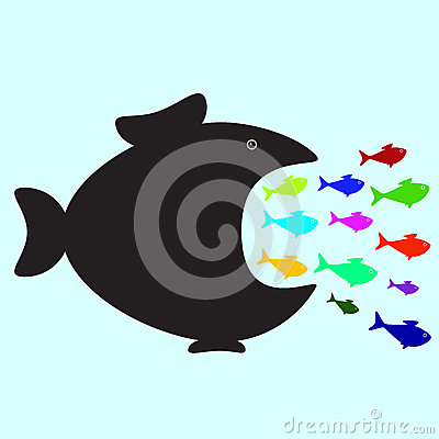 https://thumbs.dreamstime.com/x/big-small-fishes-black-fish-swallowing-plenty-colorful-fish-different-sizes-colors-business-political-concept-50767581.jpg