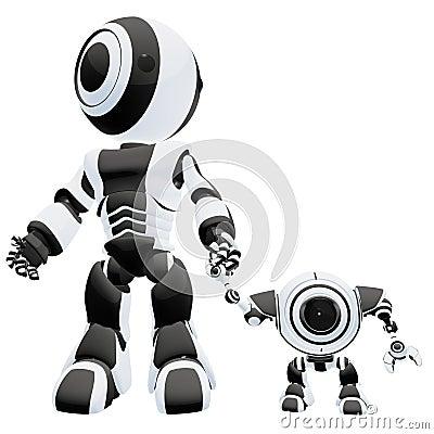 Big and small robots
