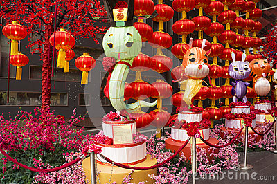 Big Snake Lantern, decoration during Chinese New Year 2013 Editorial Stock Image